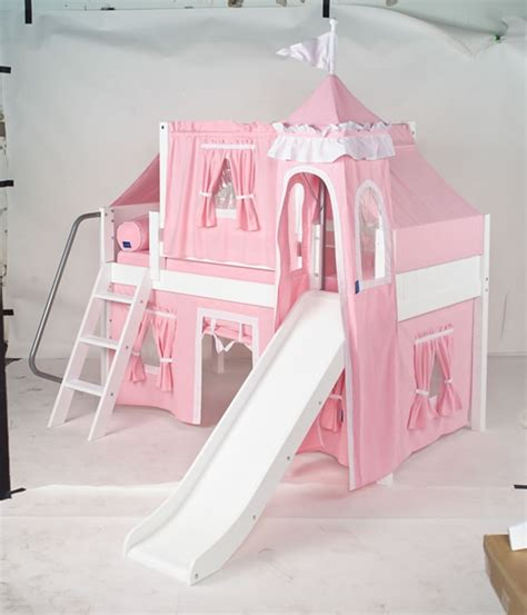 Princess Bed With Slide by Maxtrix Princess Castle Bed W Angled Ladder And Slide