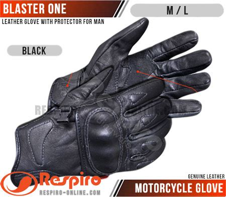 sarung tangan motor respiro blaster one genuine leather with protector