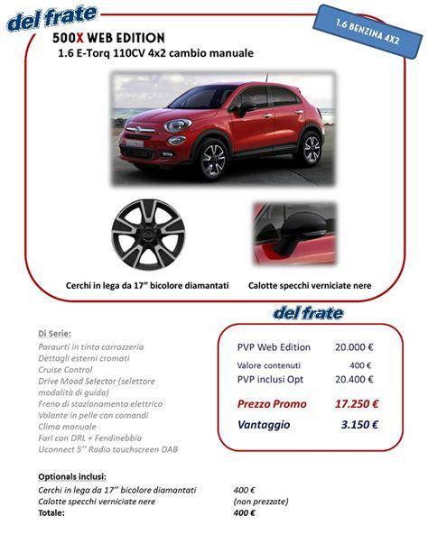 pre vendita fiat 500x quot web edition quot automobili frate srl