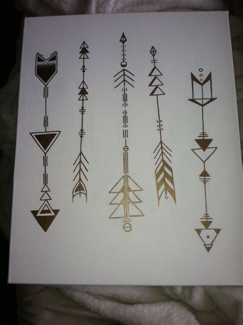 arrow tattoo designs geometric arrows on canvas by elizabeth