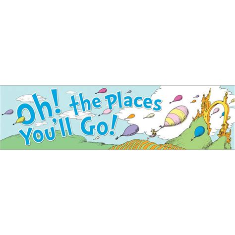 oh the places youll go inspired congratulations banner preschool the places you ll go banner