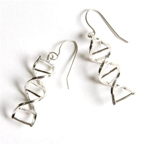 Geeky But Almost Cool Jewelry Shaped Like Molecules by Sterling Silver Dna Helix Earrings Armory