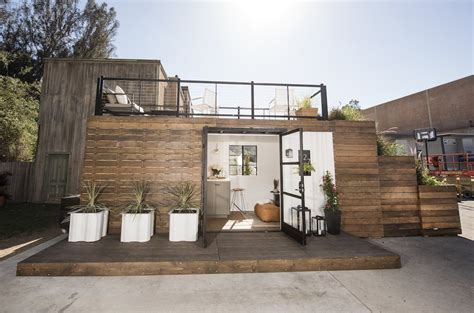 tiny house deck rooftop deck container home tiny house swoon