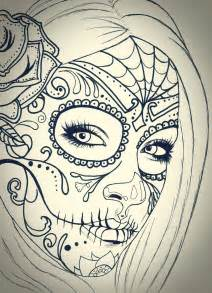 lily on skull tattoo sketch real photo pictures