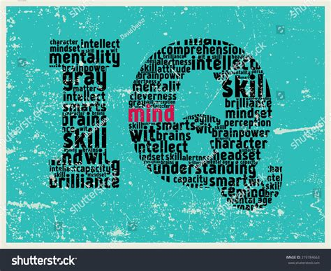 pattern of synonyms iq pattern poster made of synonym words stock photo