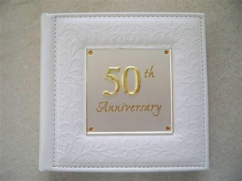 Wedding Anniversary Album by Deluxe 50th Wedding Anniversary Album 77985 Ebay