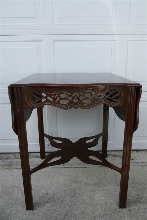 baker furniture end table baker furniture historic charleston mahogany chippendale