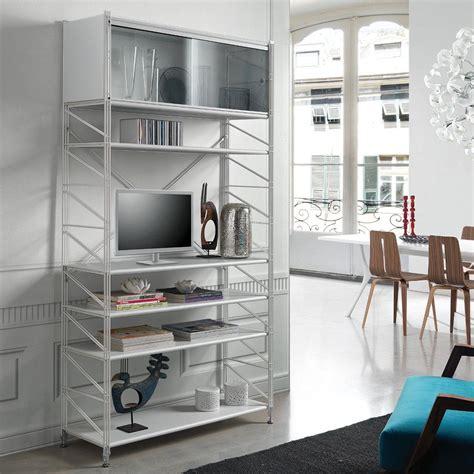 librerie metalliche componibili mikkel scaffale componibile da parete in acciaio bianco