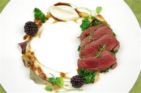 venison plating food  food inspiration