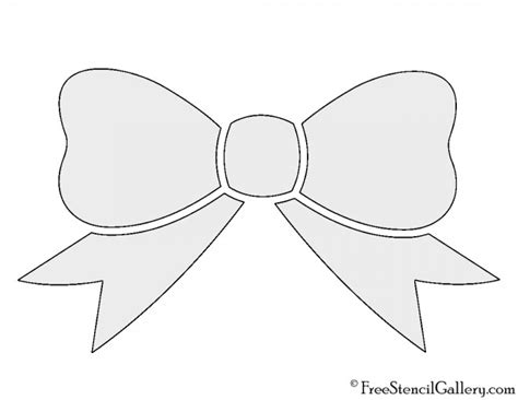 free bow tie template printable bow stencil free stencil gallery