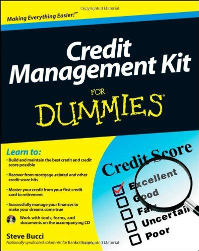 card for dummies credit management kit for dummies