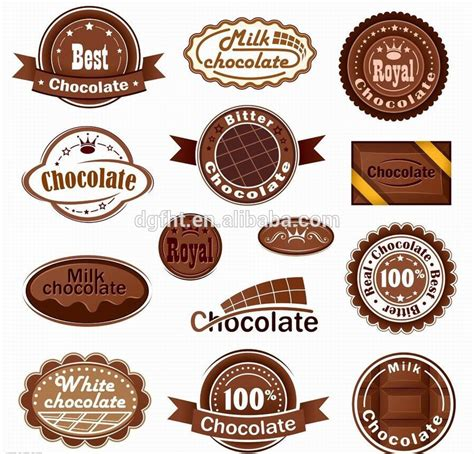 Cosmetic Sticker Stiker Label Pengiriman makanan stiker label kosmetik chocolate label label