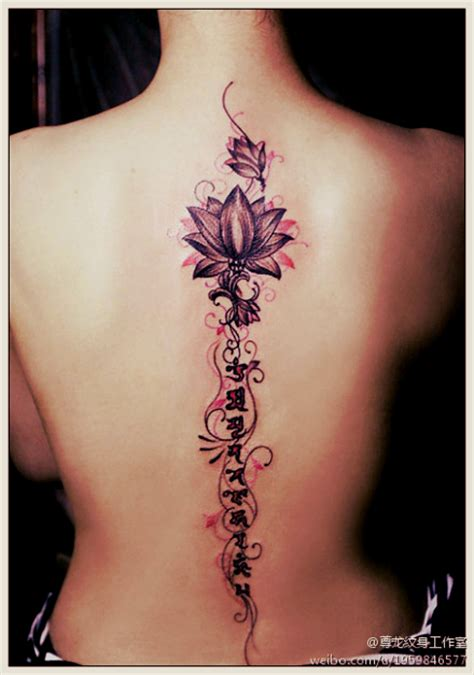 spine tattoo free designs lotus flower designs part 1