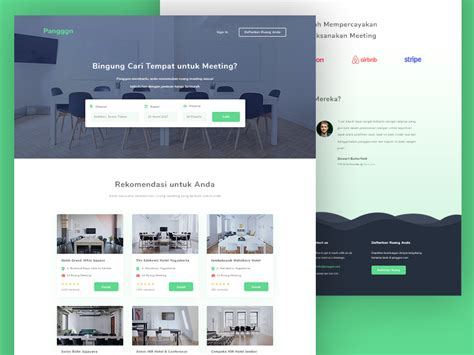 Panggon Meeting Room Booking Website Template Freebie Download Photoshop Resource Psd Repo Booking Website Template Free