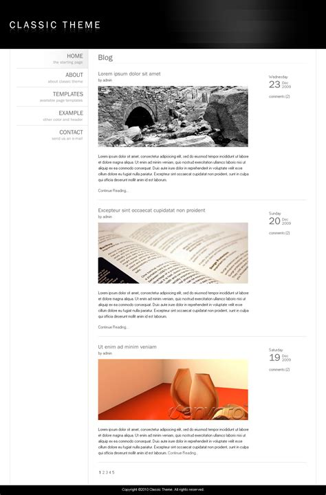 theme blog classic classic theme simple clean minimalist template by