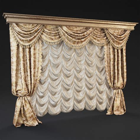 classic curtains classic curtains 3d model max cgtrader com