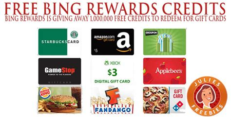 Earn Gift Card Rewards - earn gift cards with bing rewards julie s freebies