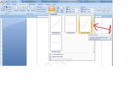 membuat watermark office 2007 panduan sederhana microsoft office 2007 cara memberi efek