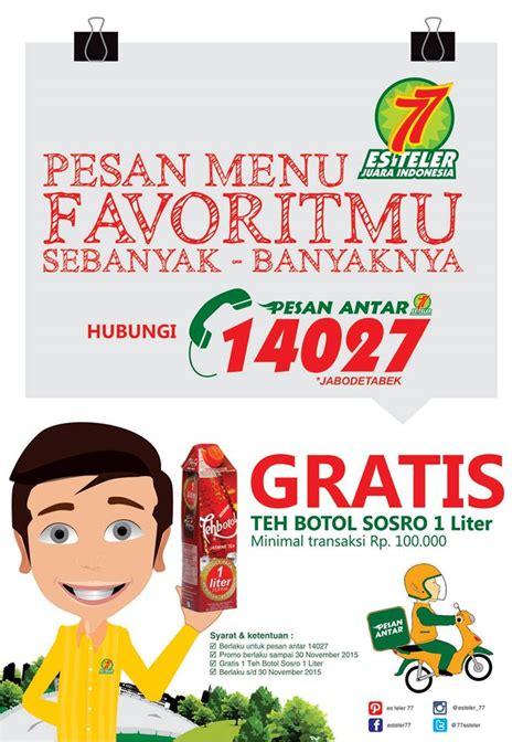 Teh Botol Sosro Surabaya es teler 77 promo spesial delivery gratis teh botol sosro katalog kuliner