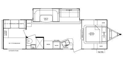 shadow cruiser floor plans full specs for 2013 cruiser rv shadow cruiser s 280qbs rvs