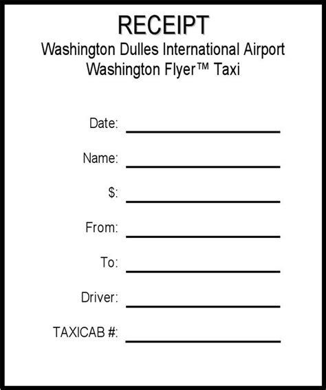 the taxi cab receipt can help you make a professional and