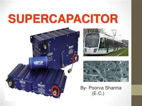 supercapacitor india supercapacitors