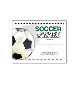 Soccer Certificate Template Free Soccer End Of Season Award Certificate Free Download