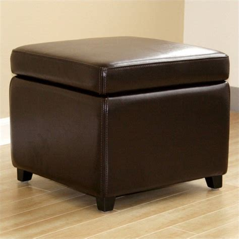 dark brown ottoman with storage small storage cube ottoman in dark brown y 162 001 dark