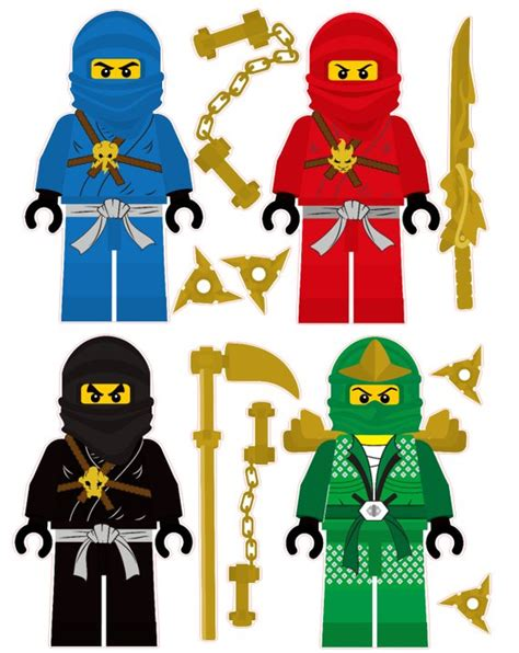 Ninjago Aufkleber Mit Namen by Lego Ninjago 4 Ninjas Herausnehmbare Wand Aufkleber Set Mit