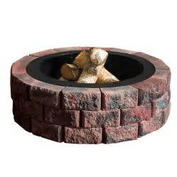Lowes Firepit Kit Shop Anchor Pit Patio Block Project Kit At Lowes