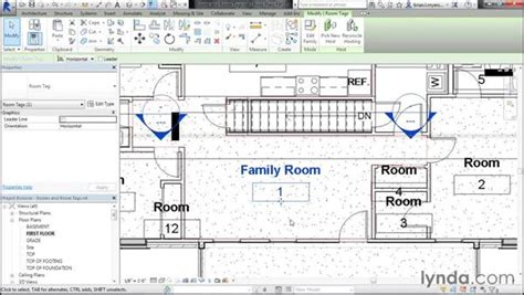 revit tags tutorial adding rooms and room tags