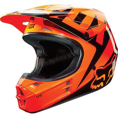 motocross snowmobile helmets fox orange v1 race helmet 10951 009 m atv dirt bike