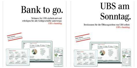 ubs bank filialen schweiz publicis die ubs als quot bank to go quot dargestellt werbung