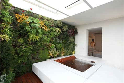 Vertical Garden Interior Vertical Gardens Blend Interior With Exterior In This