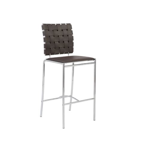 Woven Counter Height Stools by Eurostyle Carlsen Counter Height Woven Brown Leather Bar