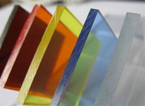colored plexiglass polymethyl methacrylate pmma is a transparent