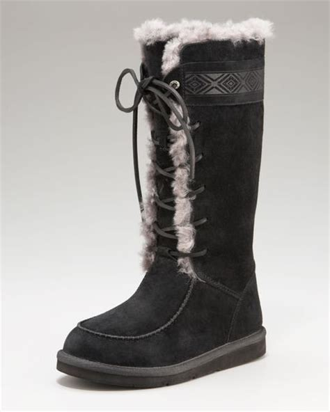 lace up ugg boots ugg tulerosa lace up boot in black lyst