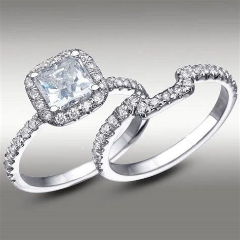 Square Engagement Rings With Band by Wedding Band For Square Halo Ring Weddingbee