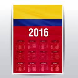 Calendar 2018 Colombia Colombia Calendar Of 2016 Vector Free