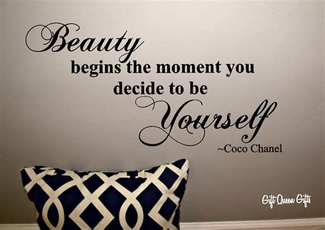 quotes sayings wall decor quotesgram coco chanel quote wall decal beauty begins the by