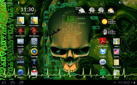 how to get live wallpaper pc desktop youtube biomechanical skull wallpaper android apps on google play