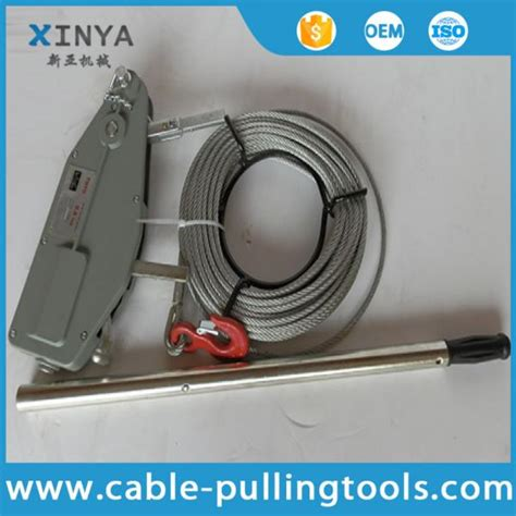Wire Rope Winch 3 2 Ton X 20 M manual cable pulling tools wire rope winch wire rope