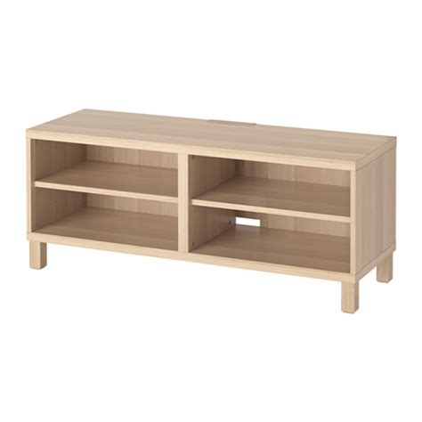 best 197 tv bench white stained oak effect ikea