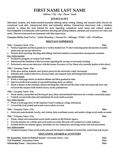 Resume Outline Exles by Resume Templates 101 28 Images Vice President Of