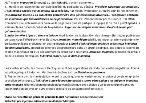 induction meaning science induction la d 233 finition du terme quot induction quot