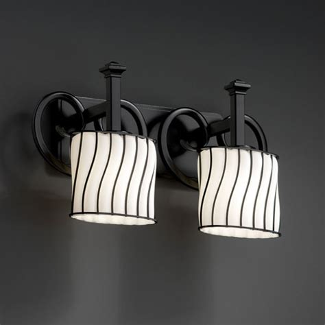 black bathroom light fixtures wire glass heritage two light matte black bath fixture