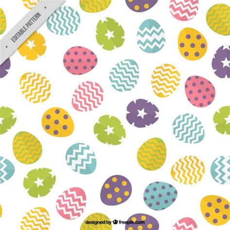 easter pattern vector colors easter eggs pattern with shapes vector free download