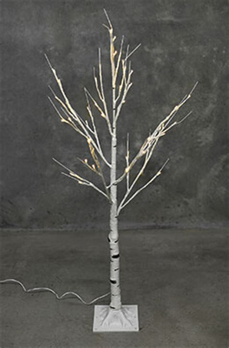 birch tree micro led brown warm white 100cm lighted trees