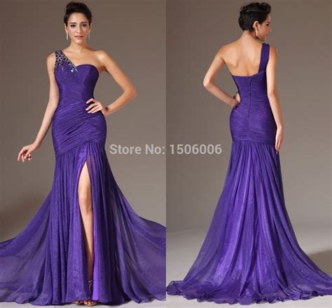 purple evening formal dresses overstock shopping flowing purple prom dresses plus size one shoulder evening