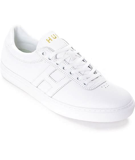 huf soto all white leather skate shoes at zumiez pdp
